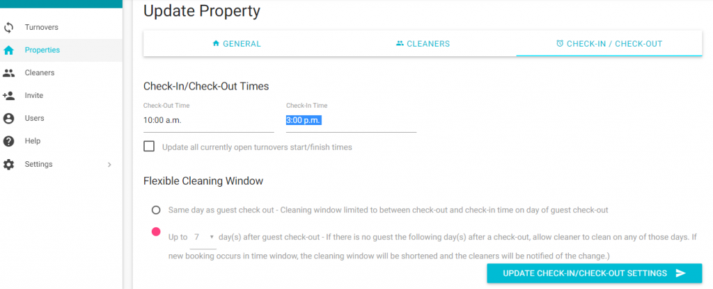 TurnoverBnB - Flexible Cleaning Window for Vacation Rental Cleaning